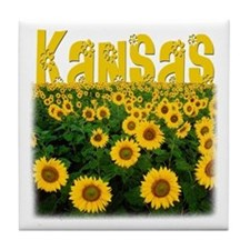 Kansas Sunflower Field Tile Coaster