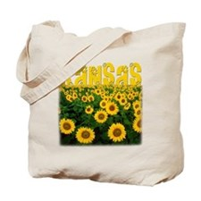 Kansas Sunflower Field Tote Bag