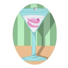 Dentures False Teeth Martini Ornament