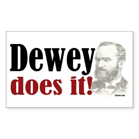 Dewey Does It! Rectangle Sticker