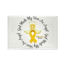 Childhood Cancer Angel Ribbon Rectangle Magnet