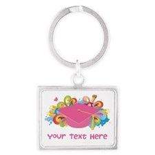 Graduation Hat Logo personalized Keychains