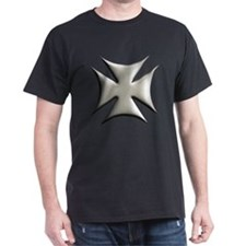 Titanium Chrome Biker Cross T-Shirt