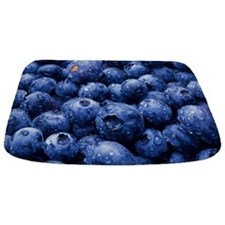 Fresh Juicy Blueberries mat Bathmat
