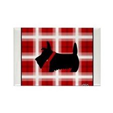 Unique Scottie dog Rectangle Magnet