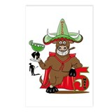 Cinco de Mayo Bull Postcards (Package of 8)