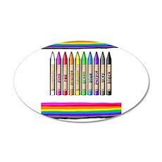 Rainbow Crayon 35x21 Oval Wall Decal
