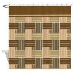 Brown Pattern Shower Curtains