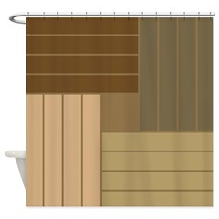 Brown tone shower curtains