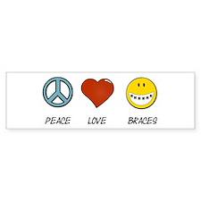 Peace.Love.Braces Sticker (Bumper)