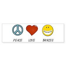 Peace.Love.Braces Sticker (Bumper 10 pk)