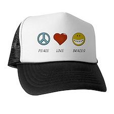 Peace.Love.Braces Trucker Hat