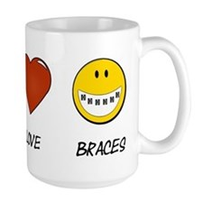Peace.Love.Braces Large Mug