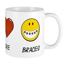 Peace.Love.Braces Mug