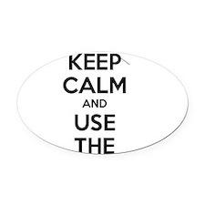 Keep Calm AC-130 Oval Car Magnet
