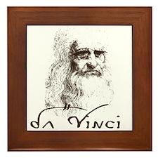 Da Vinci Black Framed Tile