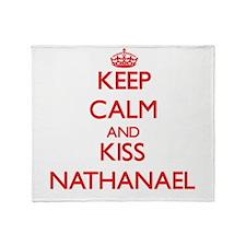 Keep Calm and Kiss Nathanael Throw Blanket