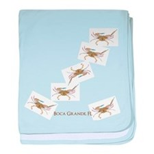Crabby In Boca Baby Blanket