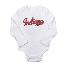 Indiana Script Font Red Body Suit
