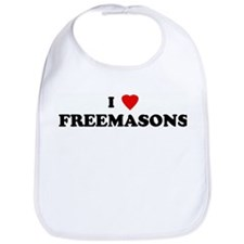 I Love FREEMASONS Bib