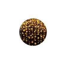 Gold Sparkles Mini Button