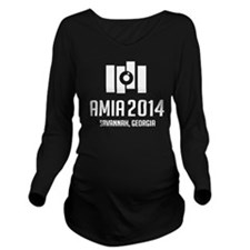 AMIA 2014: White Long Sleeve Maternity T-Shirt