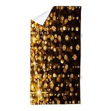 Gold Sparkles Beach Towel