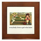 Everybody Loves a Girl Who Kn Framed Tile