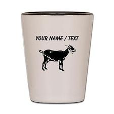 Custom Goat Silhouette Shot Glass