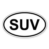 Sport Utility Vehicle Oval Decal