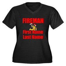 Fireman Plus Size T-Shirt