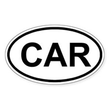 CAR Oval Decal