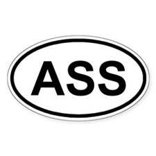 ASS Oval Decal