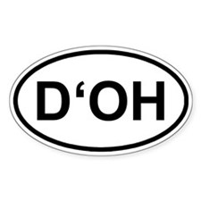 D'OH Oval Decal