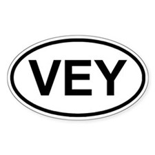 Vey Oval Decal