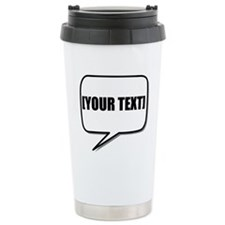 Word Bubble Personalize It! Travel Mug