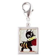 Fighting Bee Silver Portrait Charm
