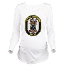 USS WAINWRIGHT Long Sleeve Maternity T-Shirt