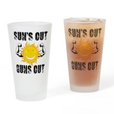 Suns Out Guns Out Summer Drinking Glass
