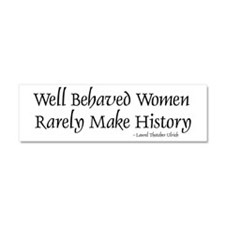 Unique Rarely make history Car Magnet 10 x 3