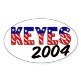 Alan Keyes For U.S. Senate Oval Decal