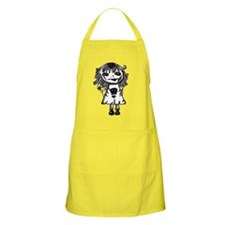 SKULL AND KNIFE GIRL BBQ Apron
