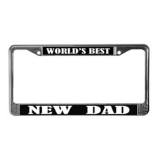 Worlds Best New Dad License Plate Frame