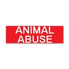 stop animal abuse Car Magnet 10 x 3