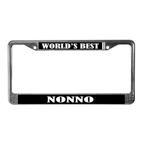 Worlds Best Nonno License Plate Frame