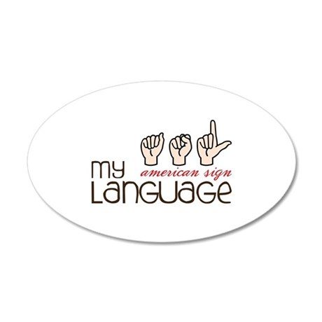 My American Sign Language Wall Decal