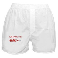 Custom Flaming Red Skull Boxer Shorts