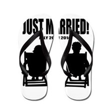Just Married | Personalized wedding Flip Flops