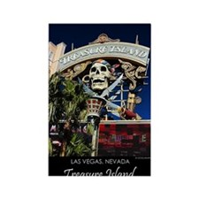 Treasure Island Sign Rectangle Magnet