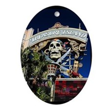 Treasure Island Sign Oval Ornament